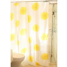 Yellow And White Shower Curtain Yellow Color Beautiful Sunflower Shower Curtain