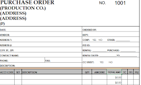 Purchase Order Template In Excel Purchase Order Template Application Support