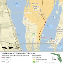 port canaveral map proposed rail map stop the port canaveral rail extension project
