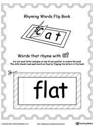 printable rhyming words flip book ap myteachingstation com