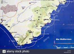 Almeria Spain Map by Cabo De Gata Almeria Spain Stock Photo Royalty Free Image