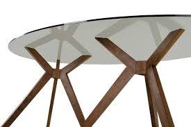 Oval Glass Table Modrest Skylar Mid Century Glass Oval Dining Table