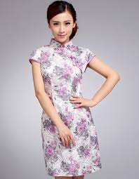 purple floral cheongsam qipao chinese dress