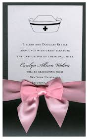 nursing school graduation invitations cap pocket with card and pink bow