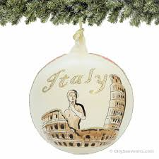 handmade glass italy ornament italian landmarks by citysouvenirs