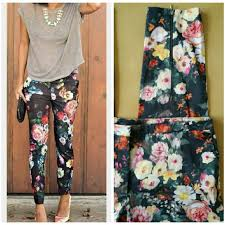 mng by mango 60 mango mng by mango floral print slim trousers from