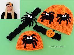 headbands for halloween crochet pattern halloween hat headband spider and pumpkin crochet