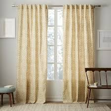 Cotton Curtains And Drapes Cotton Canvas Stamped Dots Curtains Set Of 2 Horseradish
