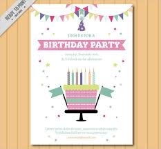 9 free printable birthday invitations free u0026 premium templates