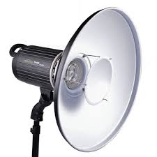aluminum standard reflector dish with white diffuser sock