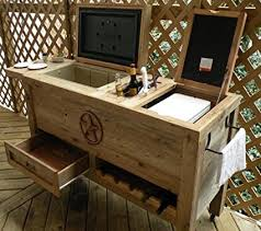 rustic kitchen furniture outdoor patio cooler bar wooden rustic kitchen