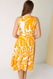 cotton shift dress in amber romanoriginals co uk
