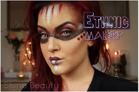tuto maquillage ethnique halloween makeup idea ethnic mask