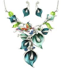 flowers with butterfly necklace images Cheap fresh blue butterfly necklace find fresh blue butterfly jpg