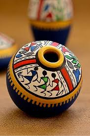 indian decorated matka decorating decoration and craft