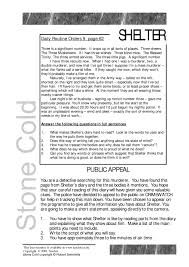 ks3 stone cold by robert swindells teachit english