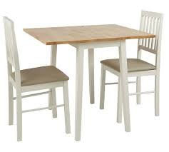 solid wood drop leaf table and chairs buy home kendall solid wood drop leaf table 2 chairs two tone at