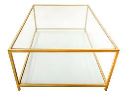glass coffee table with glass shelf metal coffee tables bespoke metal and glass coffee tables