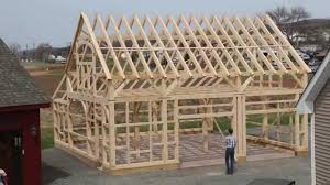 post and beam barn raising time lapse youtube