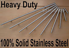 solid stainless steel cabinet pulls 10 50 pack solid bar pull brushed nickel steel kitchen cabinet