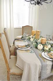 a simple beautiful way to decorate your dining table for fall u2014 2