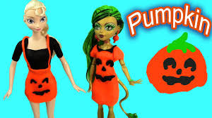 All Monster High Halloween Costumes Disney Frozen Queen Elsa Halloween Monster High Playdoh Pumpkin