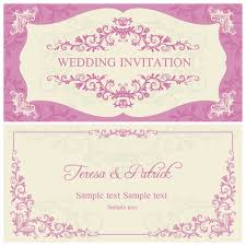 wedding invitations vector ornate pink floral wedding invitations vector 04 vector card