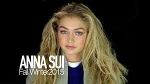 anna sui fall 2015 gigi hadid backstage ny fashion week