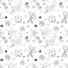 space doodles icons seamless pattern hand drawn sketch with