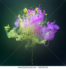 complementary colors pink pink green complementary colors fantastic shape stock photo