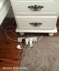 hidden bedroom charging station