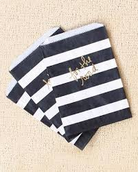 black and white striped gift bags black and white stripes paper bag with gold lettering take home