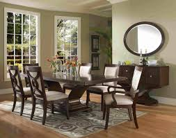 furniture rectangle dark brown wooden small dining room sets with
