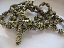knotted rosary handmade fully knotted rosary desert camouflage five decade