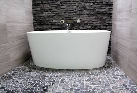 Flooring For Bathrooms by Pebble Flooring For Bathroom Decors Ideas
