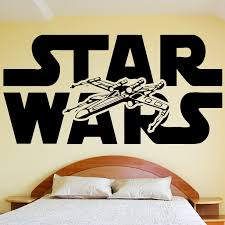 star wars wall decal sticker vinyl silhouette logo and xwing x room star wars