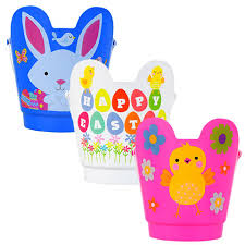 easter pails bulk printed plastic character easter pails with handles at