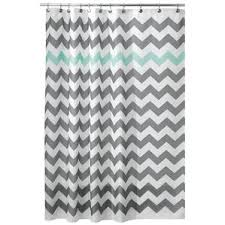 Gray And White Chevron Curtains Modern Shower Curtains Allmodern
