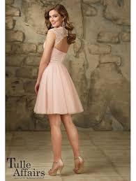 tulle skirt bridesmaid mori 115 poetic lace shoulders with tulle skirt blush