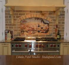 kitchen brick backsplash kitchen with granite countertop and brick