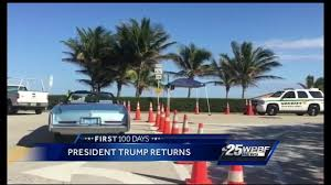 president donald trump returning to palm beach youtube