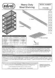 Edsal Shelving Parts by Muscle Rack 36