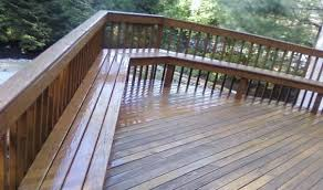 Decks With Benches Built In A Redwood Bench With Backs Built In A U Shape For Wonderful Area