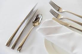 how to set a table with silverware close up of cutlery set on table stock image image of serviette