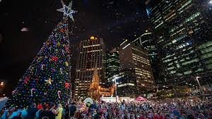 lighting of the brisbane city christmas tree presented by st