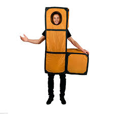 tetris shapes costumes fancy dress 80s video game retro