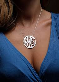 large monogram necklace best 25 monogram necklace silver ideas on monogram