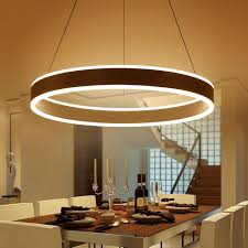 Restaurant Kitchen Lighting Modern Led Ring Pendant Lights For Dinning Room Living Room