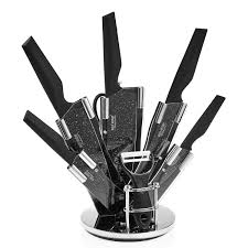 ross henery professional knives 8 piece kitchen knife set with ross henery professional knives 8 piece kitchen knife set with stylish black blades in block amazon ca home kitchen