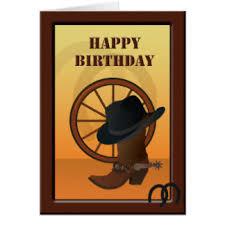 western birthday greeting cards zazzle
